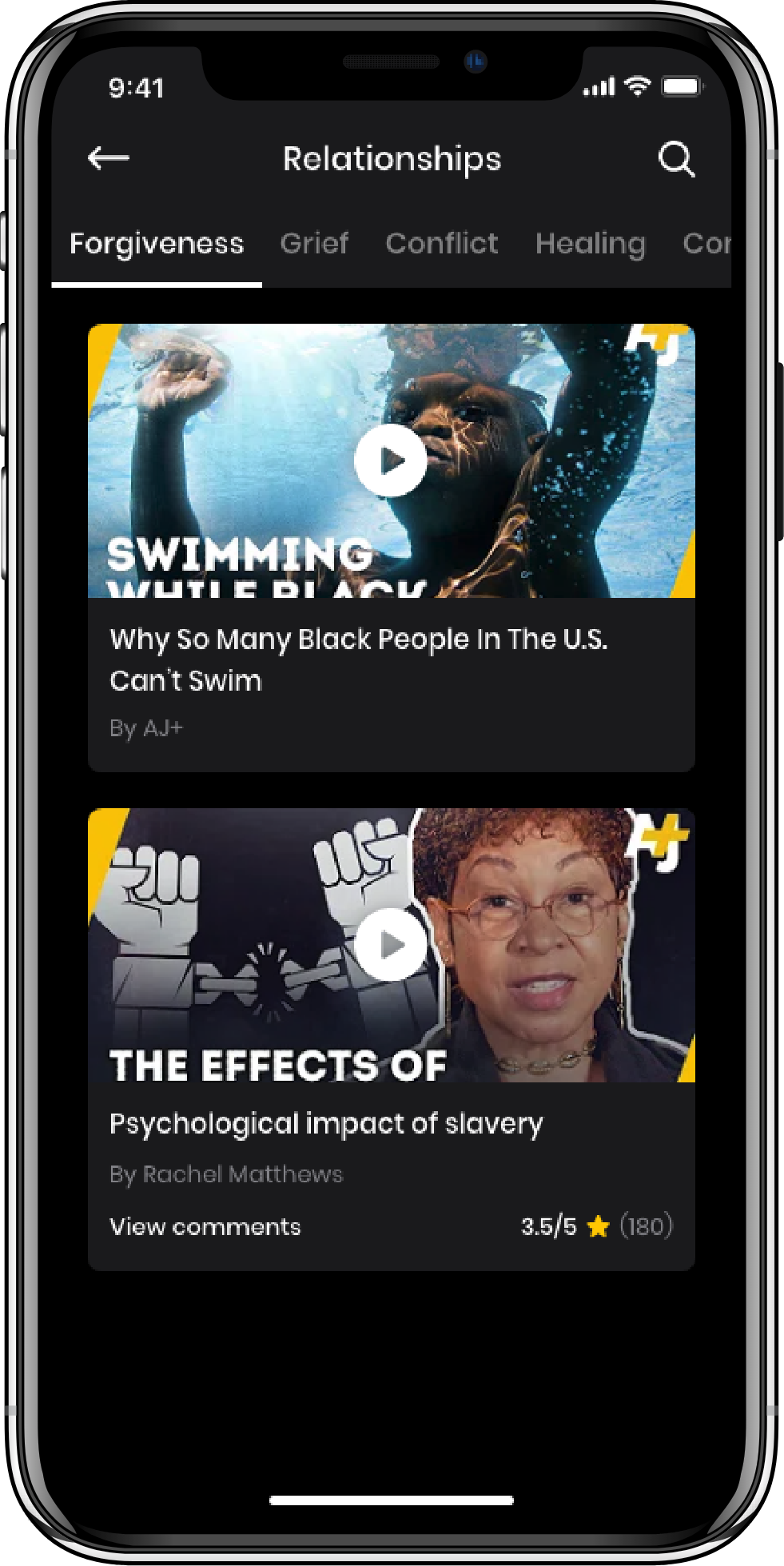 image of the iPhone app